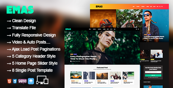 Emas - WordPress Blog Magazine Theme - News / Editorial Blog / Magazine