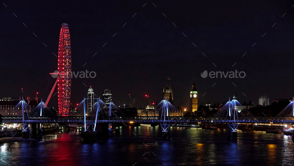 London by night - Stock Photo - Images