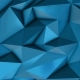 Blue Abstract Low Poly Triangle Background - VideoHive Item for Sale