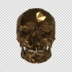 The Golden Low Poly Skull with Alpha Channel - VideoHive Item for Sale