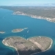 Aerial View of Beautiful Heart-shaped Island of Galesnjak, Also Called Island of Love in Pasman - VideoHive Item for Sale