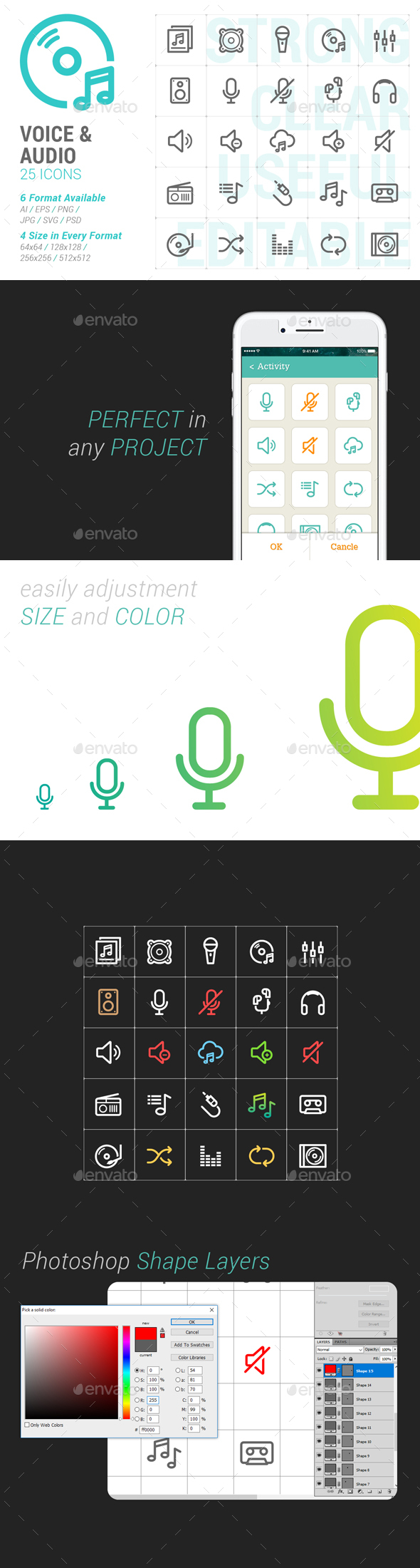 Voice & Audio Mini Icon - Media Icons