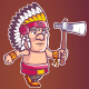 Apache Chief Game Sprite - GraphicRiver Item for Sale