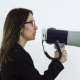 Beautiful Business Woman in Glasses Shouting Through Megaphone - VideoHive Item for Sale