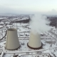 Flying Over the Large Pipe Plant for the Production of Thermal Energy Aerial - VideoHive Item for Sale