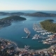 Aerial View of Yacht Club and Marina in Croatia - VideoHive Item for Sale