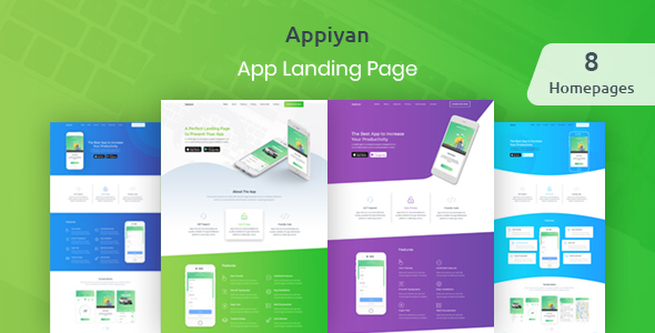 Image of Appiyan - App landing HTML 5 Template