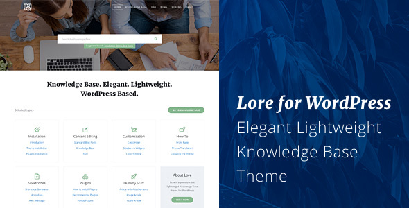 Image of Lore - Elegant Knowledge Base WordPress Theme