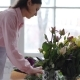 Florist at Work: Young Woman Making Modern Bouquet of Different Flowers - VideoHive Item for Sale