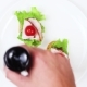 The Cook Prepares Sandwiches on White Plate. Lettuce, Tomatoes, Ham. Balsamic Sauce - VideoHive Item for Sale