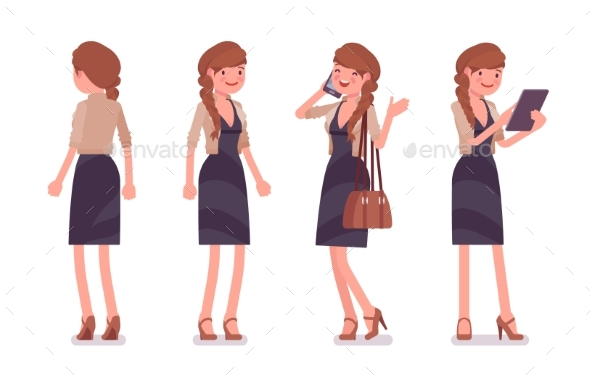 Office Employee Standing - Business Conceptual
