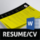 Yellow Resume - GraphicRiver Item for Sale
