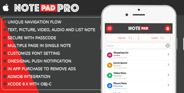 Notepad Pro | Include In App Purchase - CodeCanyon Item for Sale