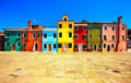 Venice landmark, Burano island square and colorful houses, Italy - PhotoDune Item for Sale