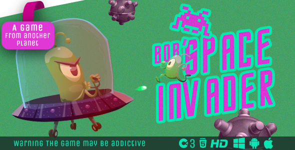 Bob Space-Invader - HTML5 Game (Construct3) - CodeCanyon Item for Sale