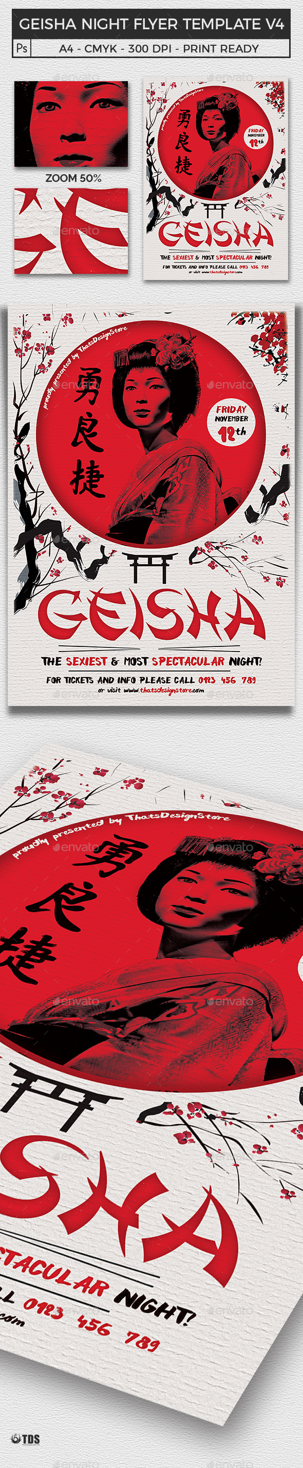 Geisha Night Flyer Template V4 - Clubs & Parties Events