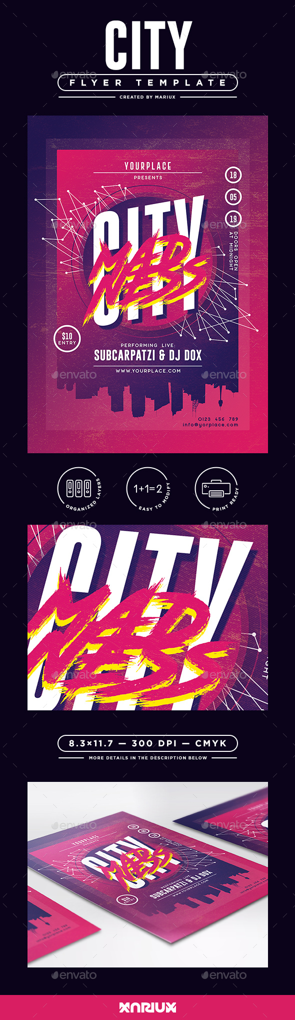 City Madness Flyer - Clubs & Parties Events