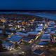 Aerial night panorama of small American town of Beaufort, South - PhotoDune Item for Sale