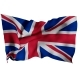 UK Flag with Fabric Texture