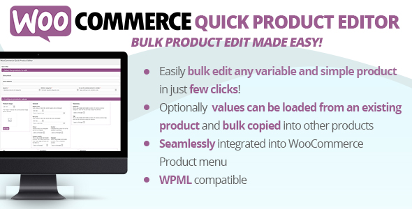 WooCommerce Quick Product Editor - CodeCanyon Item for Sale