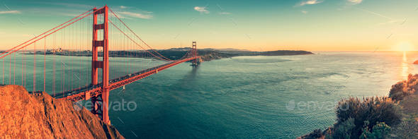 Golden Gate panorama - Stock Photo - Images