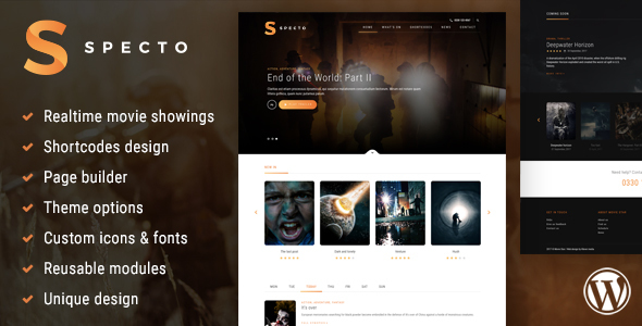 Image of Specto - Cinema WordPress Theme
