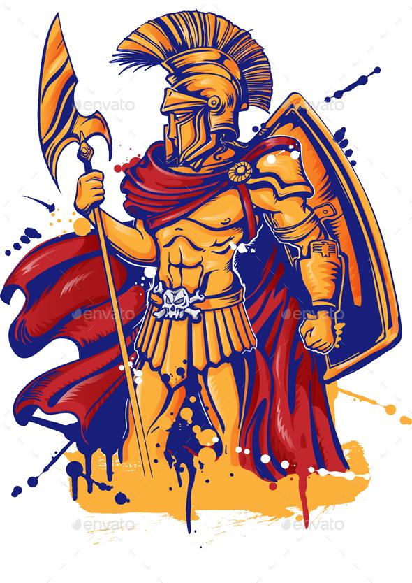 Warrior Character or Sports Mascot - Characters Vectors