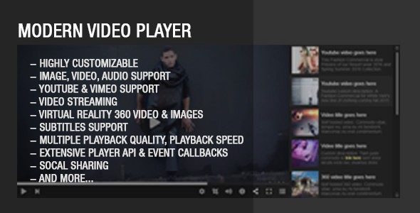 Modern Video Player