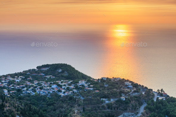 sunset on the sea - Stock Photo - Images