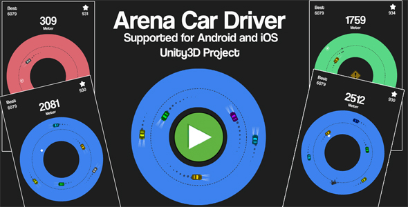 Arena Car Driver Unity3D Source Code + Android iOS Supported + Ready to Release - CodeCanyon Item for Sale