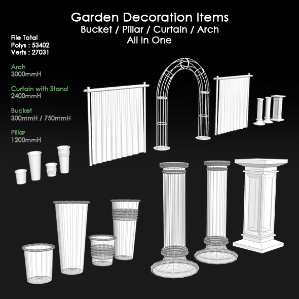 Garden-Decoration-Items - 3DOcean Item for Sale