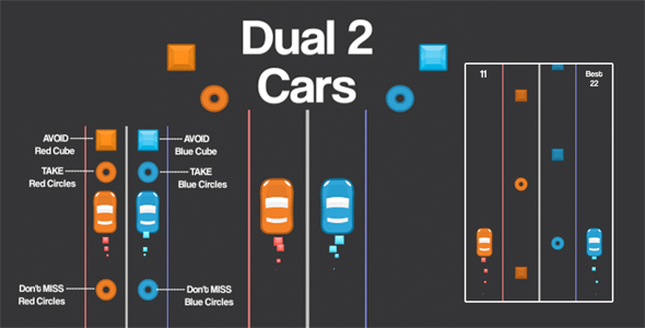 2 Cars Dual Unity3D Source Code + Android iOS Supported + Ready to Release - CodeCanyon Item for Sale