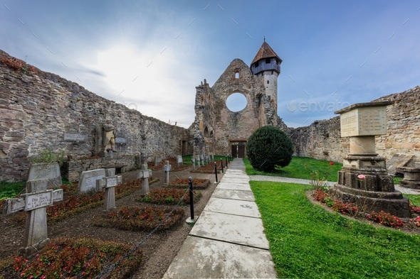 Carta Monastery former Cistercian (Benedictine) religious architecture in Transylvania - Stock Photo - Images