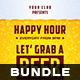 Happy Hour Flyer Bundle