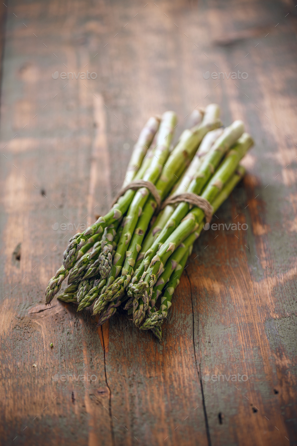 Bunches of fresh raw asparagus - Stock Photo - Images