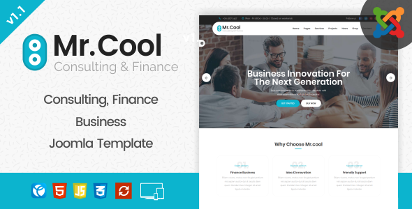 Image of Mr. Cool - Consulting, Finance & Business Joomla Template
