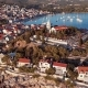 Sunset Flying Over Resort Adriatic Town Primosten, Croatia - VideoHive Item for Sale