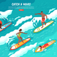 Catch Wave Surfing Concept