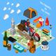 Tourist Lifestyle Isometric Composition