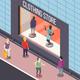 Clothing Store Isometric Background