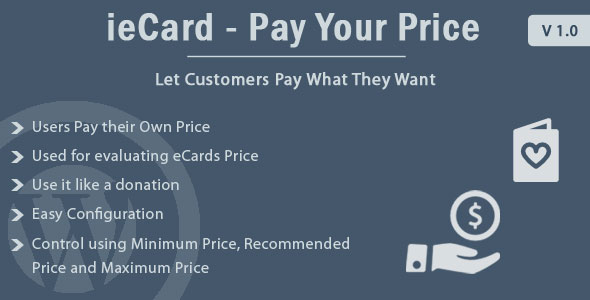 WP ieCard - Pay Your Price - CodeCanyon Item for Sale