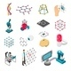 Nano Technology Isometric Icons Set