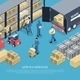 Work in Warehouse Illustration