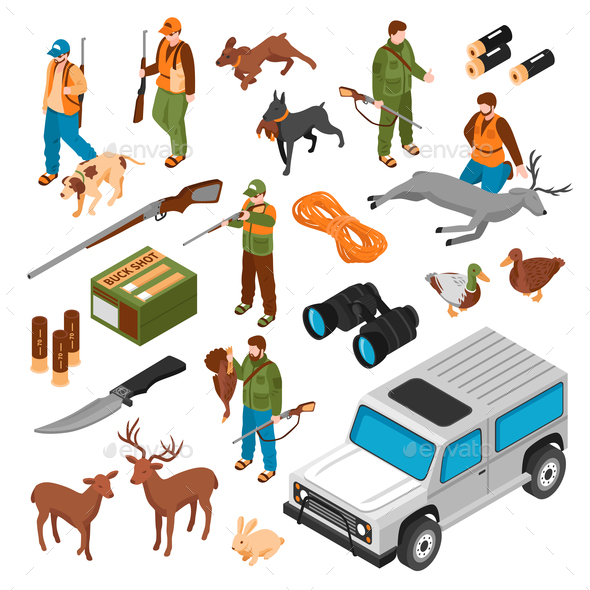 Isometric Hunting Set - Animals Characters