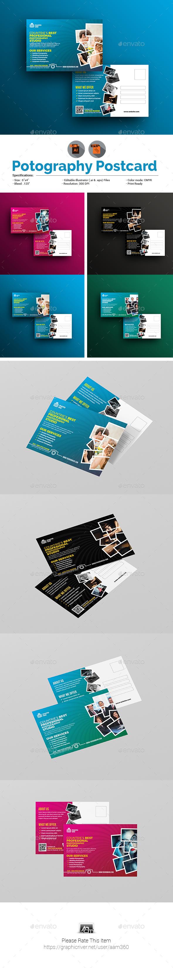 Photography/Photo Studio Postcard Template - Cards & Invites Print Templates