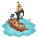 Isometric Pirate Ship Crew Buccaneer Filibuster - GraphicRiver Item for Sale