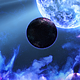 Abstract Nebula in Deep Space with Big Blue Star and Planets and Energy Flares - VideoHive Item for Sale