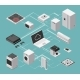 Smart House and Electrical Control Isometric