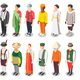 Multinational World Culture Isometric Icons