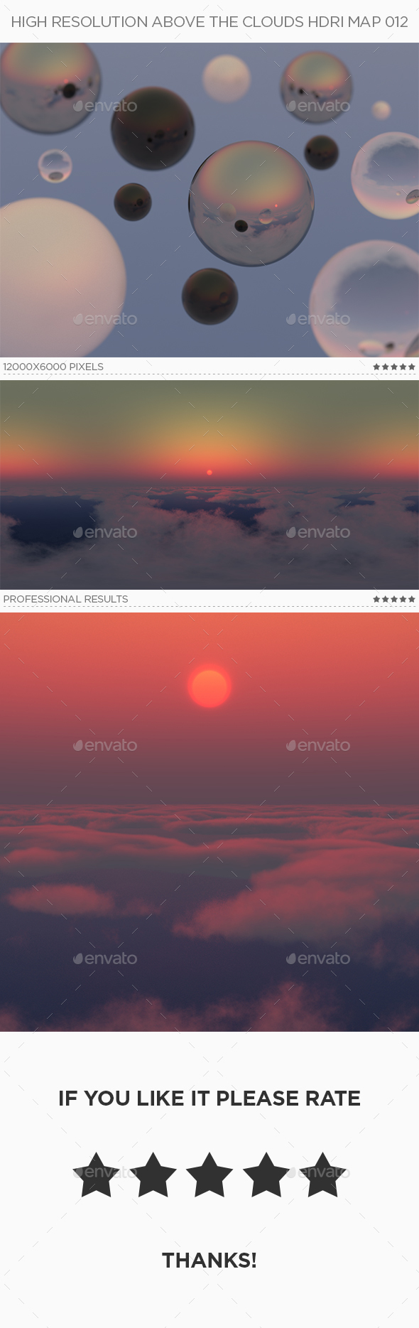 High Resolution Above The Clouds HDRi Map 012 - 3DOcean Item for Sale